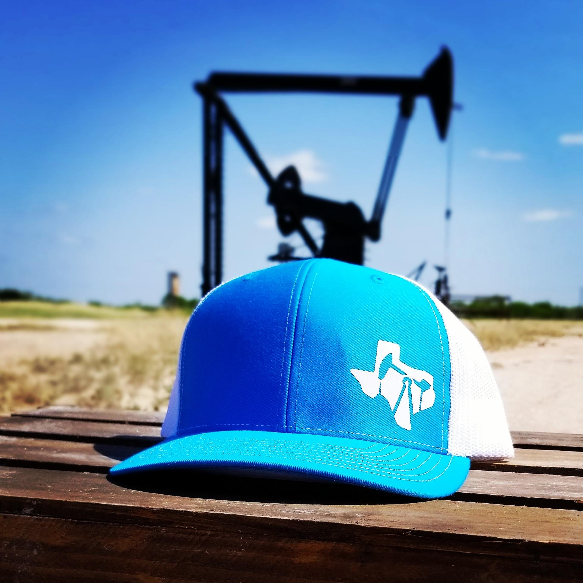 ... purchase texas oilfield cap aqua white fe0dd ee0a1 d2d57e7cb7da